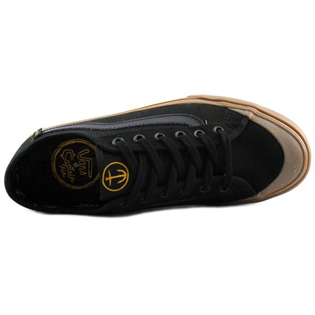 15603a1b8f Vans Men s Black Ball Sf Captain Fin   Gum Ankle-High Canvas Skateboarding  Shoe -