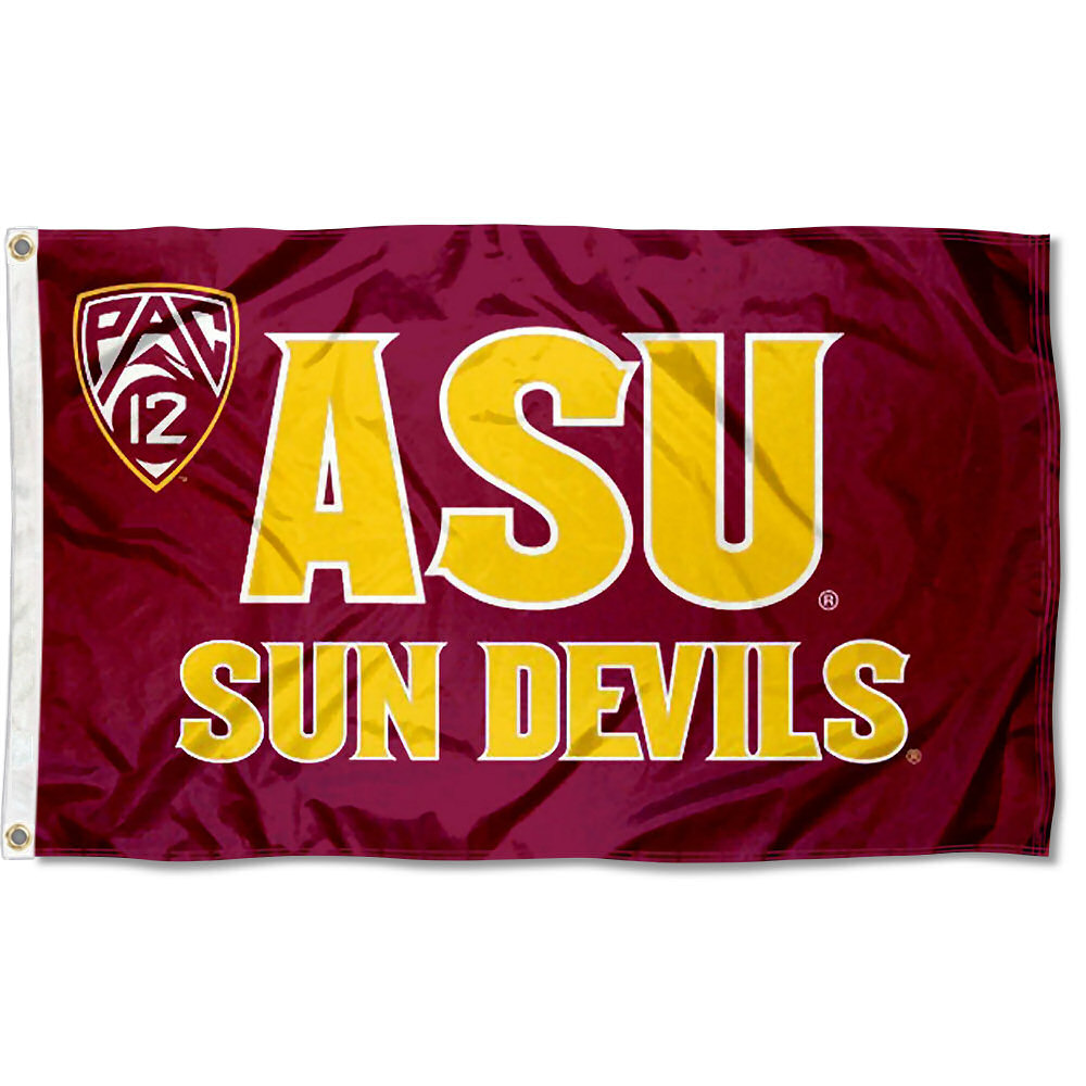 Arizona State Sun Devils Pac 12 Logo 3' x 5' Pole Flag