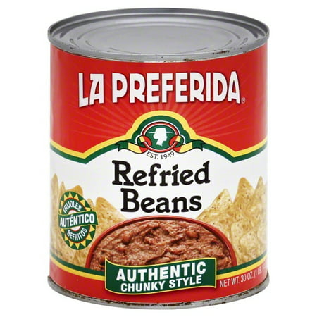 - (6 Pack) La Preferida Authentic Chunky Style Refried Beans, 30 Oz