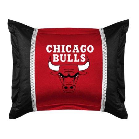 2pc Nba Chicago Bulls Pillowcase And Pillow Sham Set Basketball Team Logo Bedding Accessories