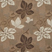 Designer Fabrics A391 54 in. Wide Brown And Ivory Large Leaves Textured Metallic Upholstery Fabric