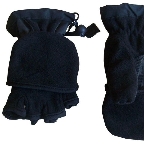 NIce Caps Kids Thinsulate Lined Winter Converter Fingerless Glove To Mitten