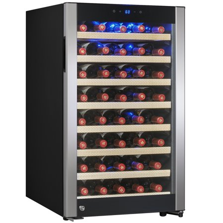 AKDY 52 Bottles Built-in Compressor Single Zone Adjustable Touch Control Panel Freestanding Wine Cooler