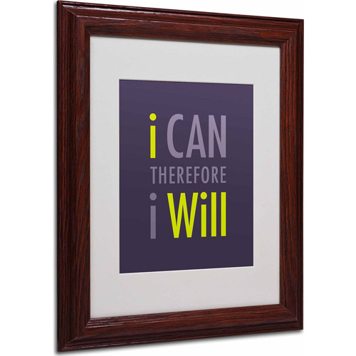 "Trademark Fine Art ""I Will I"" Matted Framed Art by Megan Romo, Wood Frame"