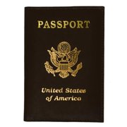 Marshal Wallet® Travel genuine leather Passport Holder Travel Accessory USA imprinted