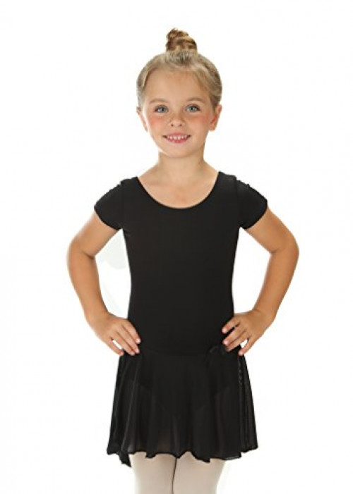 Elowel Girls' Ruffle Short Sleeve Skirted Leotard Lavender (size-4-6 )