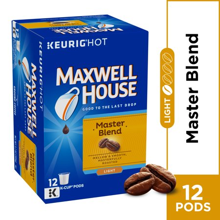 Maxwell House Master Blend Coffee, Light Roast, K-CUP Pods, 12 (Gj K-cup)
