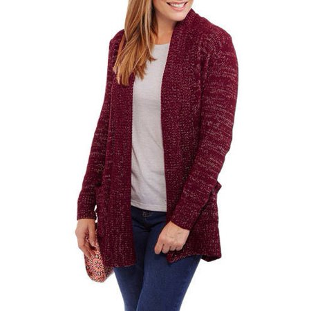 Faded Glory - Women s Chenille Shawl Cardigan Sweater - Walmart.com 22d334f9d