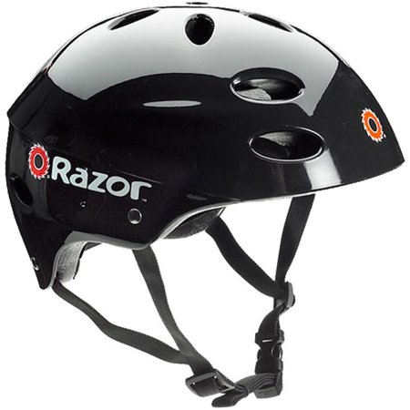 Razor V17 Child's Multi-Sport Helmet, Glossy Black, For Ages 5-8 - Kids Steelers Helmet