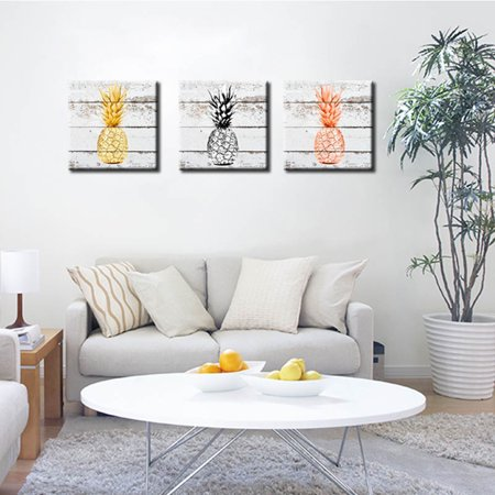 Girl12Queen Wall Art Canvas Painting Pineapple Fruit Bedroom Dining Room Decor Gift (Fruit Painting)