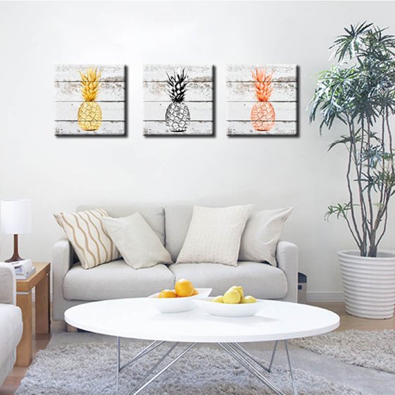 Girl12Queen Wall Art Canvas Painting Pineapple Fruit Bedroom Dining Room Decor Gift