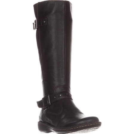 Womens B.O.C Austin Flat Knee-High Comfort Boots, Black Leather Austin Black Leather