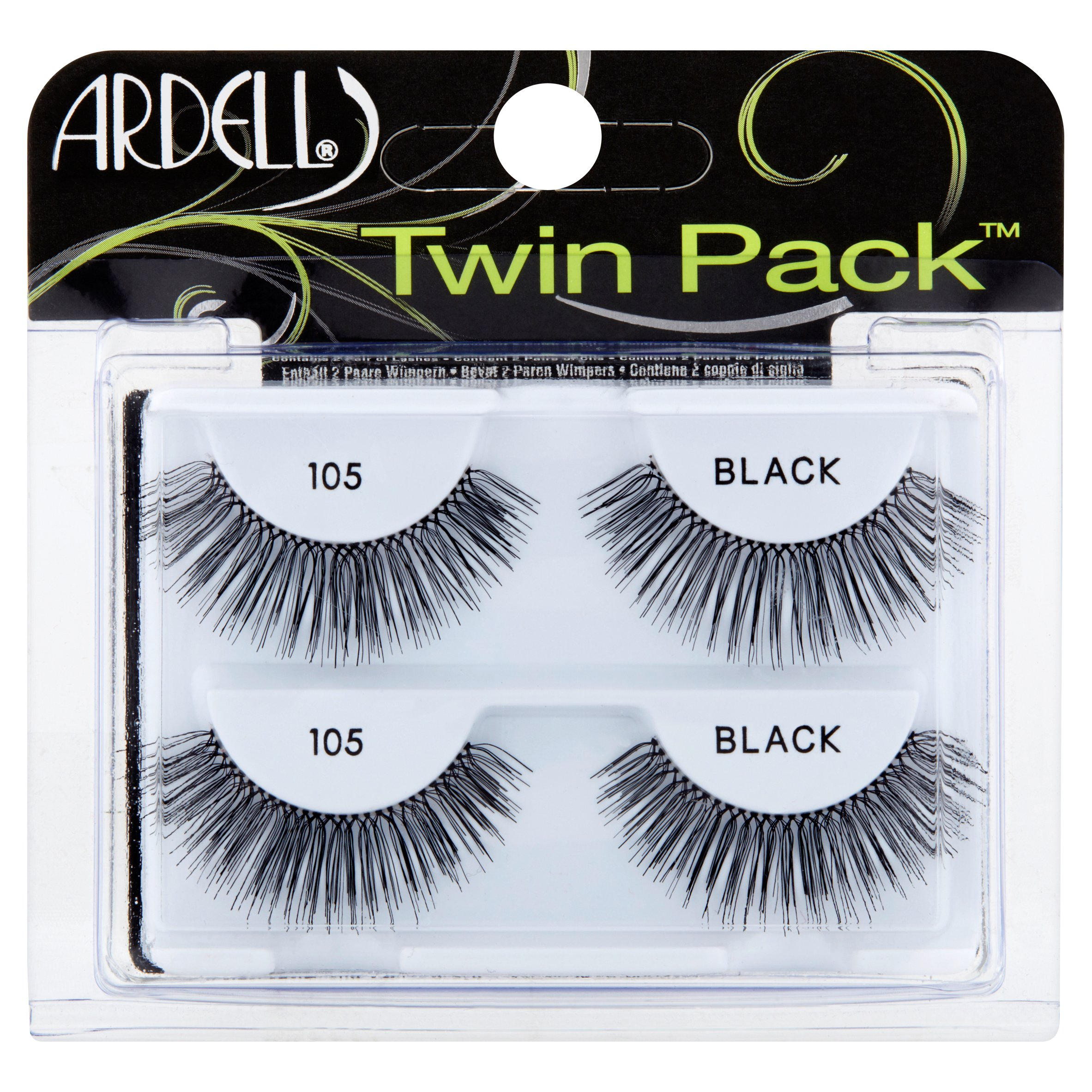 Ardell 105 Black Lashes Twin Pack, 2 pair