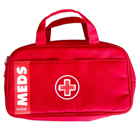 Newly Designed Red Medicine Bag for Allergy & Asthma Meds now INSULATED!