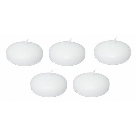 3 Inch Large White Floating Candles - Case of 36 (Casa Candle)