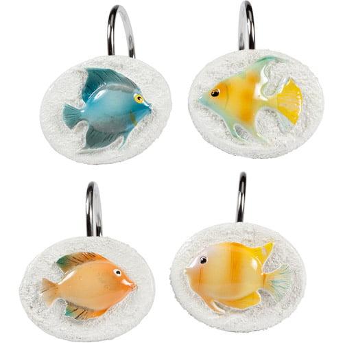 Creative Bath Rainbow Fish Resin Shower Hooks, Multi-Color