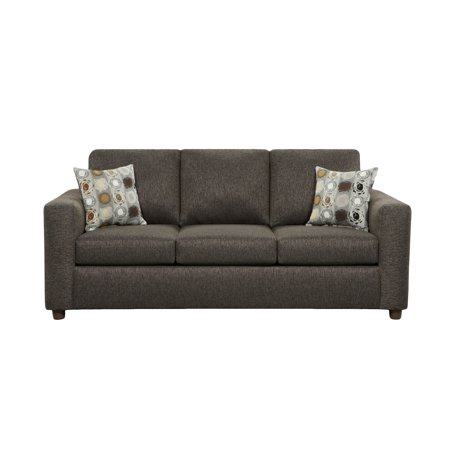 sofa trendz chester charcoal grey sofa with matching accent pillows. Black Bedroom Furniture Sets. Home Design Ideas