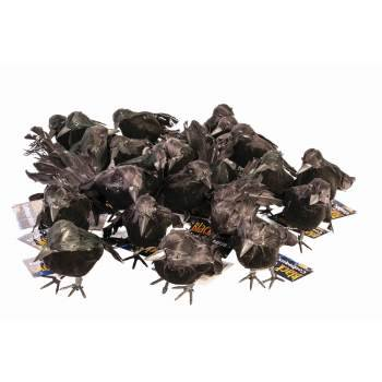 Small Black Crows Halloween Decoration - Black Tape Project Halloween