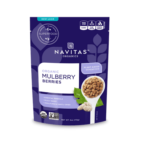 Navitas Organics Mulberry Berries, 4.0 Oz, 4 Servings
