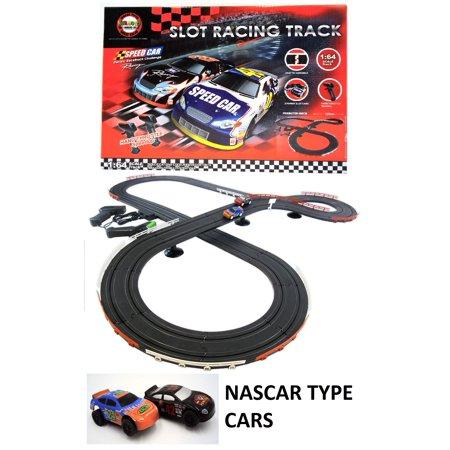 Nascar Style Slot Car Track Ho Scale Race Set New And Improved 2019