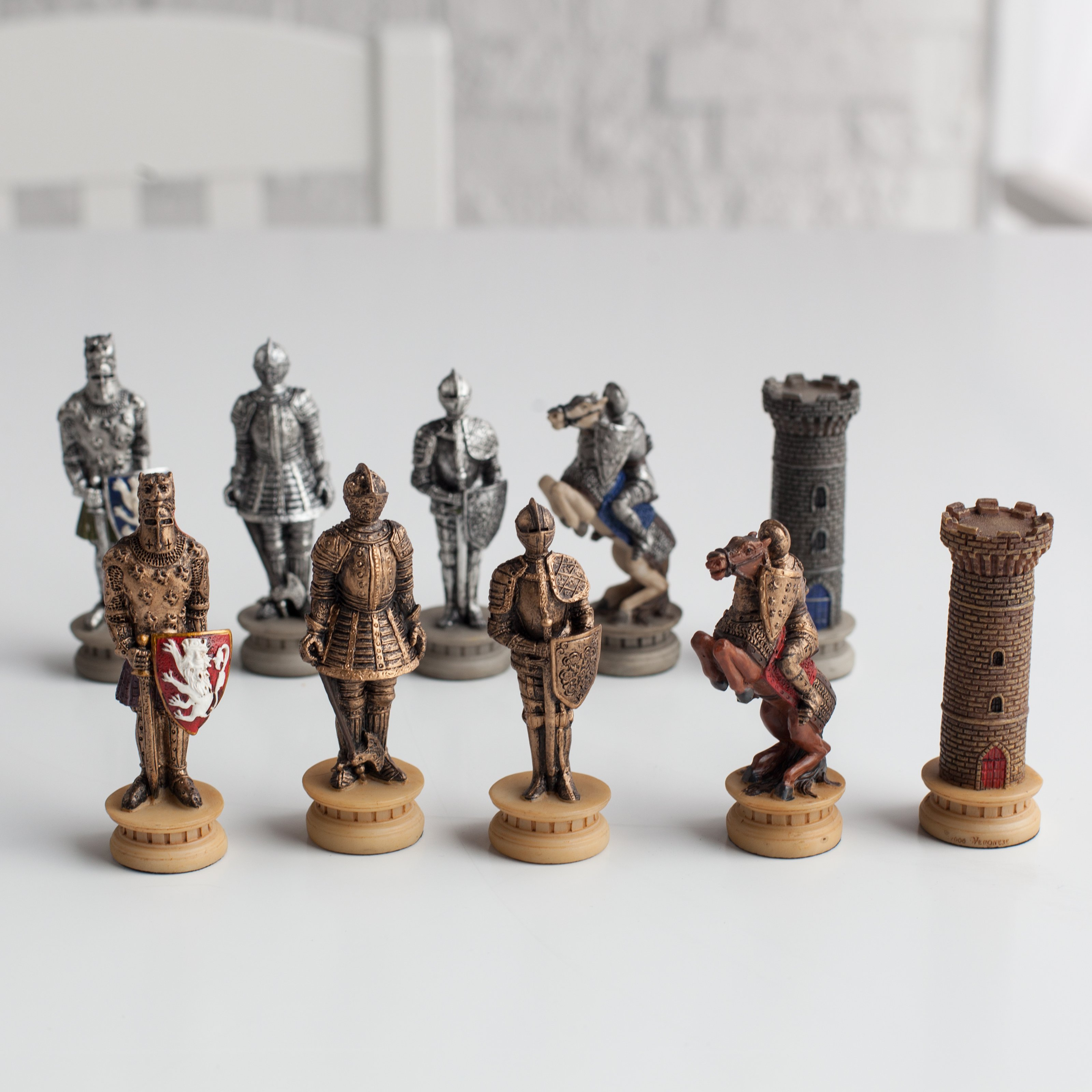 WorldWise Imports Medieval Times Armored Knights Painted ...