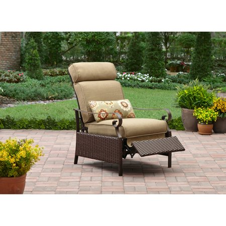 better homes and gardens riverwood recliner tan - Better Homes And Gardens Outdoor