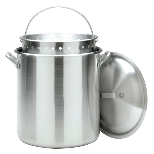 Bayou Classic Aluminum Stockpot with Basket
