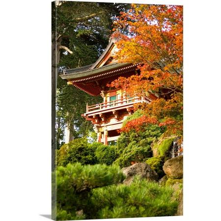 Tea Garden Golden Gate Park - Great BIG Canvas | Michele Westmorland Premium Thick-Wrap Canvas entitled California, San Francisco, Golden Gate Park, Japanese Tea Garden