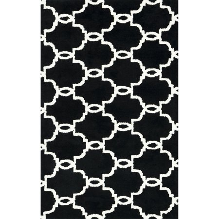 (Alexander Home Microfiber Woven Harlow Onyx Rug (2'3 x 3'9) - 2'3