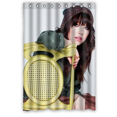 Deyou Sexy Woman Carly Rae Jepsen Pattern Shower Curtain Polyester Fabric Bathroom Shower Curtain Size 48X72 Inch