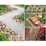 Stone Garden Border Path Mats - Set of 4