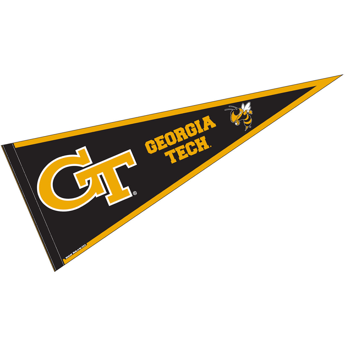 "Georgia Tech Yellow Jackets 12"" X 30"" Felt College Pennant"