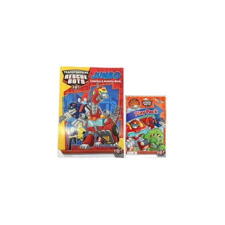 transformers rescue bots coloring book and grab n go play pack red - Rescue Bots Coloring Book
