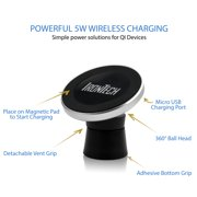 IRONTECH TWO IN ONE WIRELESS CHARGING CAR MOUNT