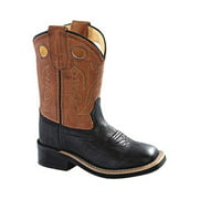 Children's Old West 11 Inch Broad Square Toe Fancy Stitch Cowboy Boot