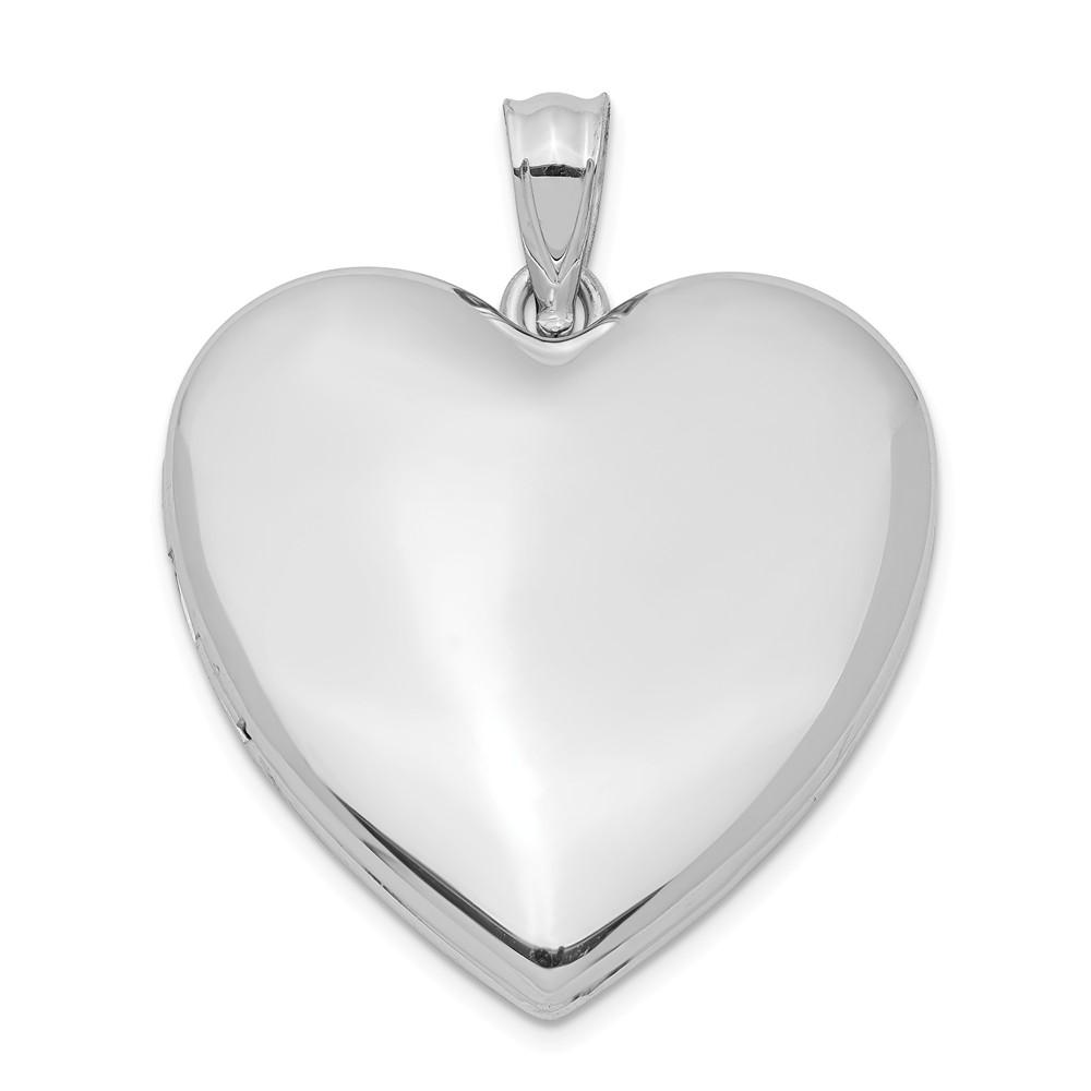 Sterling Silver 24mm Plain Heart Locket