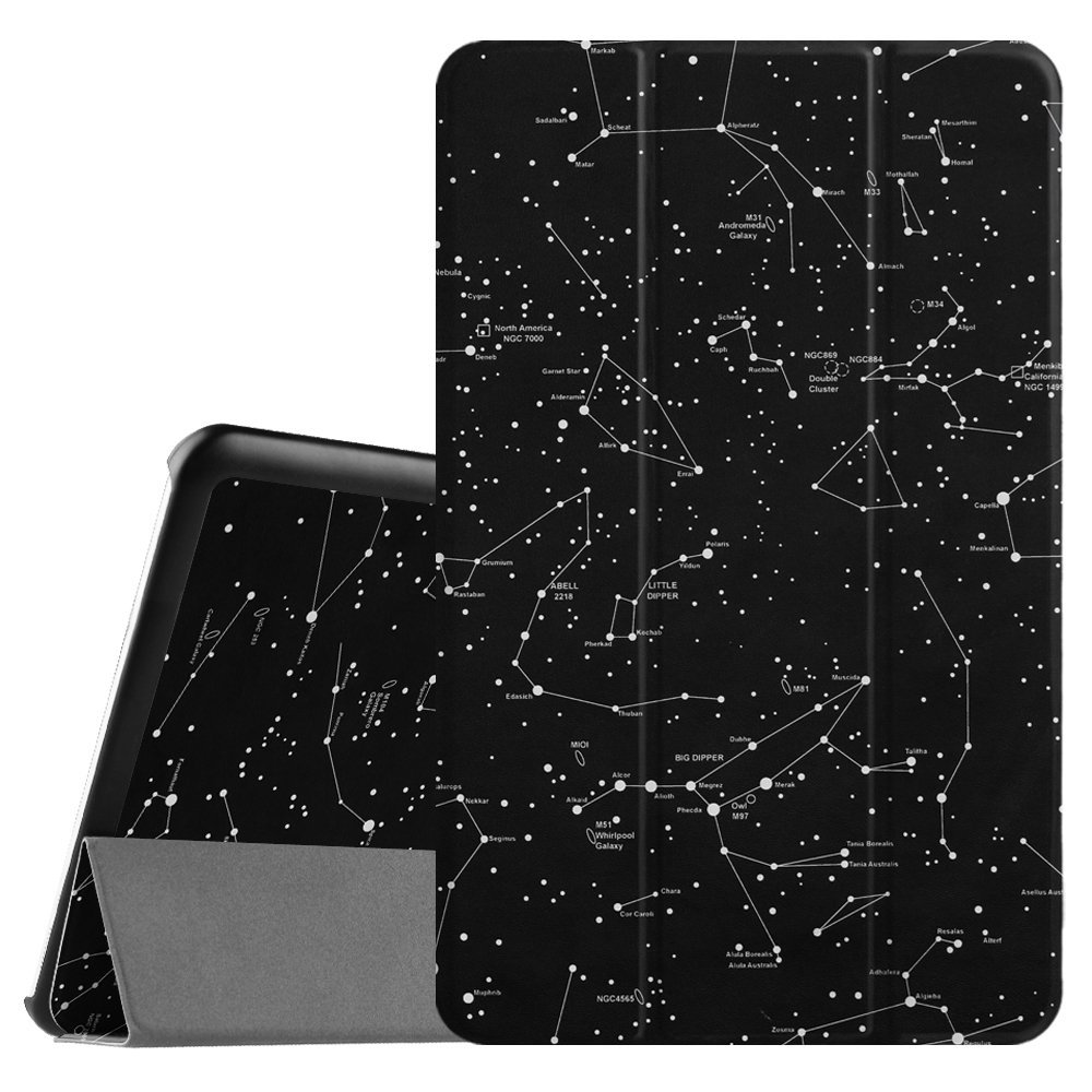 Samsung Galaxy Tab E 9.6 / Tab E Nook 9.6 Tablet Case - Fintie Slim Lightweight Stand Cover, Constellation