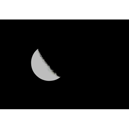 canvas print crater marks moon sky orbital white half shining stretched canvas 10 x 14 (Glossy Mark)