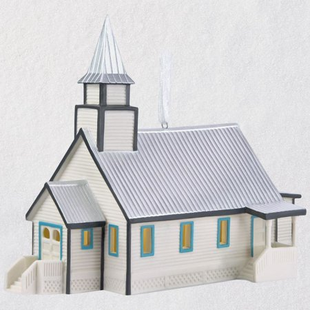 Hallmark Keepsake 2018 When Calls the Heart Coal Valley Church Porcelain Ornament