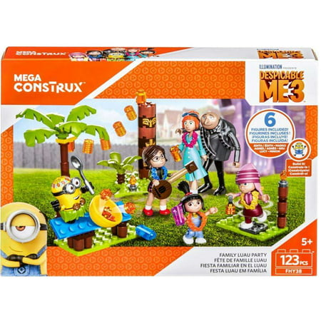 Mega Construx Despicable Me 3 Family Luau Party