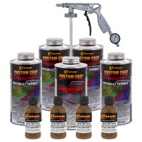 33105 Field Drab Brown T78 - Custom Coat Urethane Spray-On Truck Bed Liner, 0.875 Gallon - With Applicator Spray  Gun