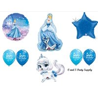 CINDERELLA PUMPKIN Palace Pets Disney Princess BIRTHDAY PARTY Balloons Decorations Supplies