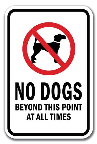 "No Pets Allowed Sign 12/"" x 18/"" Heavy Gauge Aluminum Signs"