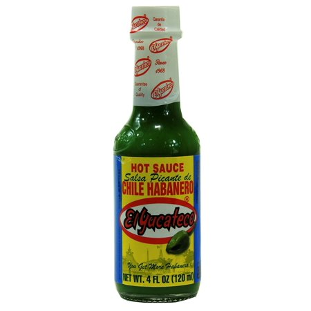 Green Habanero Sauce - Product Of El Yucateco, Salsa Picante Habanero Sauce (Green) - Bottle, Count 1 - Mexican Sauces / Grab Varieties & Flavors