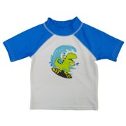 Joe Boxer Infant & Toddler Boys Blue Rash Guard Surfing Dinosaur Swim Shirt
