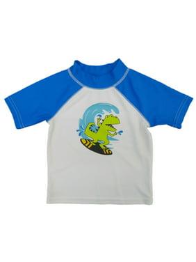 4d32c9d9c1cad Product Image Joe Boxer Infant & Toddler Boys Blue Rash Guard Surfing  Dinosaur Swim Shirt