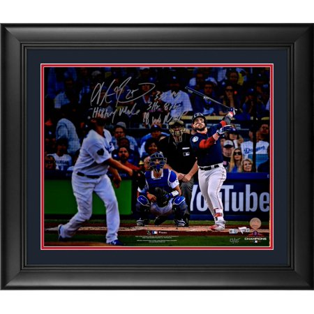 "Steve Pearce Boston Red Sox 2018 MLB World Series Champions Framed Autographed 16"" x 20"" Hitting Photograph with Multiple Inscriptions - Limited Edition of 25 - Fanatics Authentic Certified"