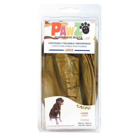Pet Dog Camo Tank Top (PawZ Protex Dog Boots Water-Proof Paws Disposable Reusable Large Camo)