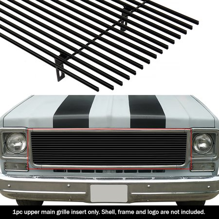 Compatible with 1973-1980 Chevy GMC Blazer C K Pickup Suburban Black Billet Grille Grill Insert - Blazer Billet Grille Replacement