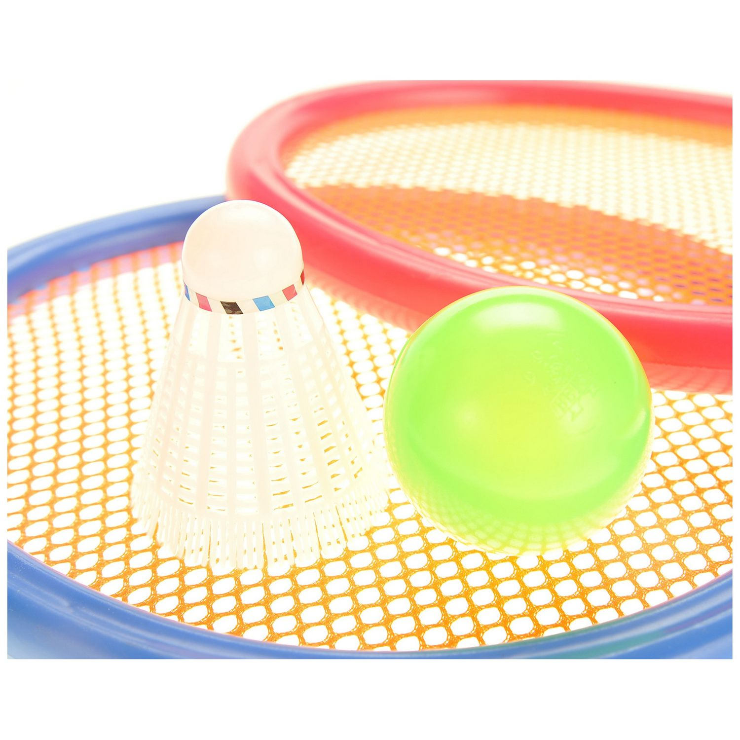Badminton And Tennis Play Set With Easy To Grip Colorful Rac by
